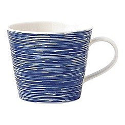 Royal Doulton - White and blue porcelain 'Pacific' textured mug