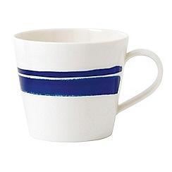 Royal Doulton - White and blue porcelain 'Pacific' brushed mug