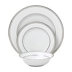 Royal Doulton - White porcelain 'Paramount Platinum' 12 piece tableware set