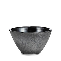 Debenhams - Black 'Monte' cereal bowl