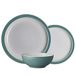 Denby - 'Elements' fern green 12 piece tableware set