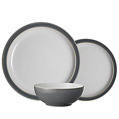 Denby - 'Elements' fossil grey 12 piece tableware set