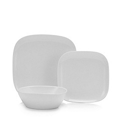 Debenhams - White 12 Piece Square Dinner Set