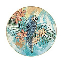 MW by Matthew Williamson - Multicoloured Parrot Porcelain Plate