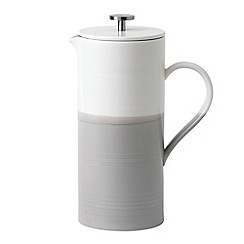 Royal Doulton - Grey and white porcelain 'Coffee Studio' French press