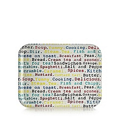 Creative Tops - Multi-coloured 'Principles' food words print tray