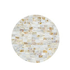 Star by Julien Macdonald - Off white pearlescent placemat