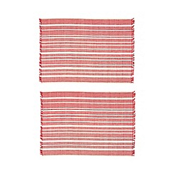 Debenhams - Set of two pink bamboo placemats