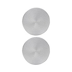Home Collection - Set of two silver metallic woven placemats