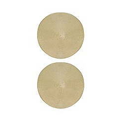 Home Collection - Set of two gold metallic woven placemats