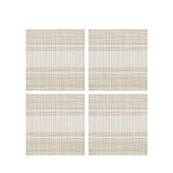 Home Collection - Set of four natural striped print coasters