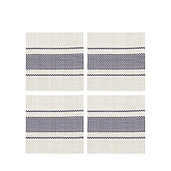 Home Collection - Set of four navy striped print coasters
