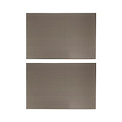Home Collection - Set of two beige checked placemats