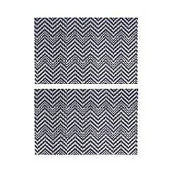 Home Collection - Set of two navy zig zag placemats