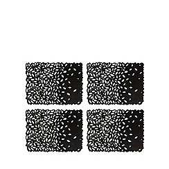 RJR.John Rocha - Set of four black cut-out placemats