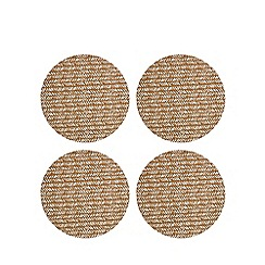 Home Collection - Pack of four brown 'Stockholm' cork placemats