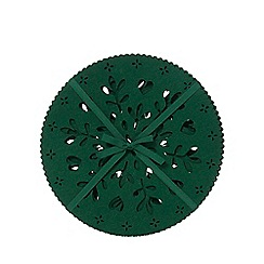 Home Collection - Pack of 4 dark green laser cut snowflake placemats
