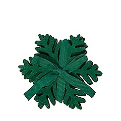 Home Collection - Pack of 4 dark green laser cut snowflake coasters