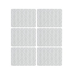 Home Collection Basics - Pack of six grey geometric print placemats