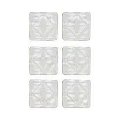 Home Collection Basics - 6 pack grey geometric pattern coasters