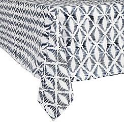 Home Collection Basics - Navy geometric print tablecloth