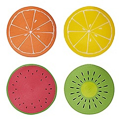 At home with Ashley Thomas - Set of four multi-coloured place mats