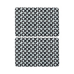 Home Collection Basics - Set of two navy circle print placemats