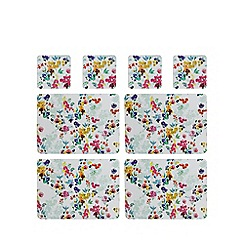 Creative Tops - Set of four multi-coloured floral print placemats and coasters
