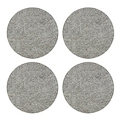 Debenhams - Set of 4 light grey felt placemats