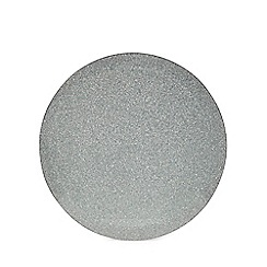 Star by Julien Macdonald - 2 pack round silver glitter placemats