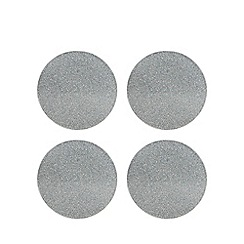 Star by Julien Macdonald - Set of 4 round glitter coasters