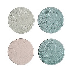 Denby - Multi-coloured set of 4 'Monsoon Gather' coasters