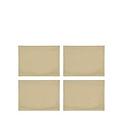Debenhams - 4 pack gold metallic place mats
