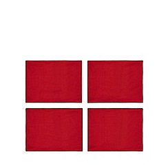Debenhams - 4 pack red metallic place mats