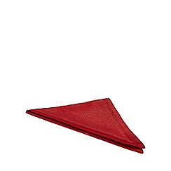 Debenhams - 4 pack red metallic napkins