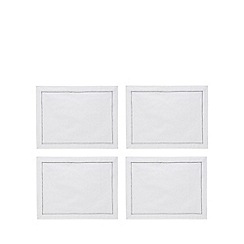 Debenhams - 4 pack white placemats