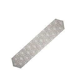 Home Collection - Grey felt cut out snowflake table runner