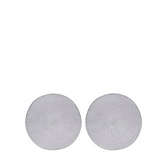 Home Collection - 2 pack silver metallic round placemats