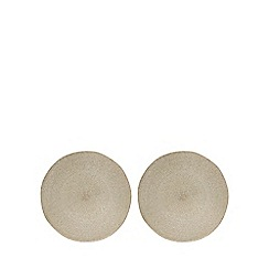 Home Collection - 2 pack gold metallic round placemats