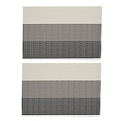 Debenhams - Light grey ombre-effect striped placemats