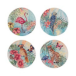 MW by Matthew Williamson - Set of 4 Multicoloured Jungle Coasters