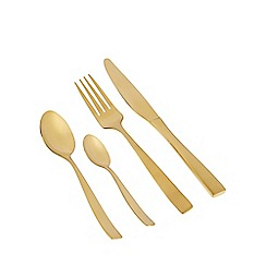 Debenhams - Gold 'Radiance' 16 piece cutlery set