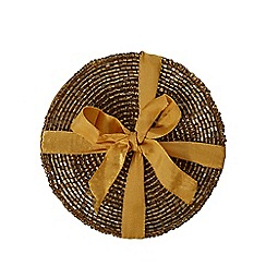 Home Collection - Pack of 4 gold beaded coasters