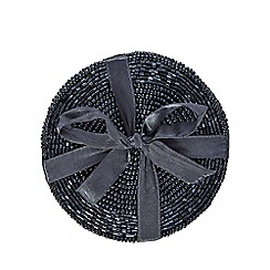 Home Collection - Pack of 4 dark blue beaded coasters