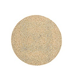 Home Collection - Set of 2 wooden beaded place mats