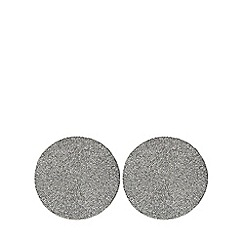 Home Collection - Pack of 2 silver placemats