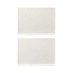 Star by Julien Macdonald - Set of 2 glass burst placemats