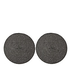 Home Collection - Set of two black and white 'Stockholm' place mats