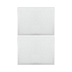 Star By Julien Macdonald Pack Of 2 Silver Glitter Placemats