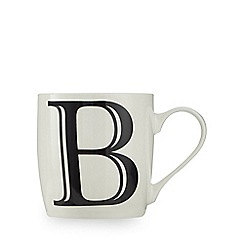 Home Collection - White 'B' letter mug
